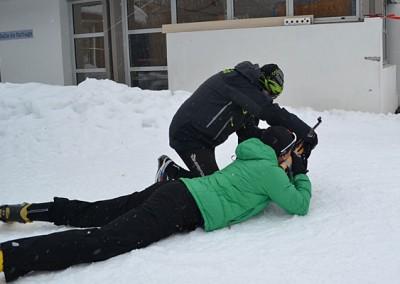 Biathlón láser en la Escuela de Esquí nórdico Somport